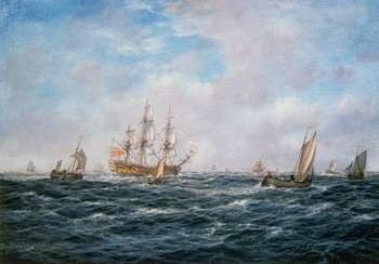 British Man-o-War and Other Craft, c.1740 Canvas