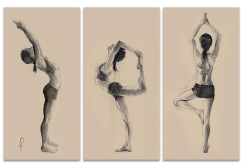 Hazel Bowman - Yoga Series canvas