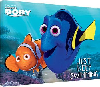 Obraz na plátne  Hľadá sa Dory - Just Keep Swimming