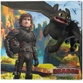 How To Train Your Dragon 3 - A Hidden World Canvas