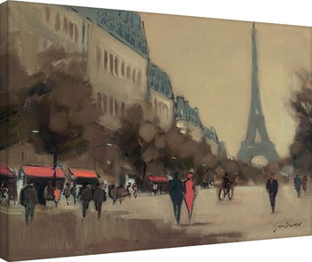 Jon Barker - Time Out in Paris canvas