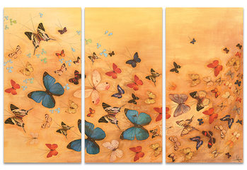 Lily Greenwood - Butterflies on Warm Ochre Canvas