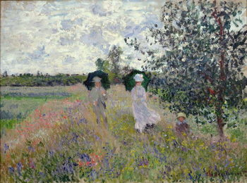 Promenade near Argenteuil, 1873 Canvas