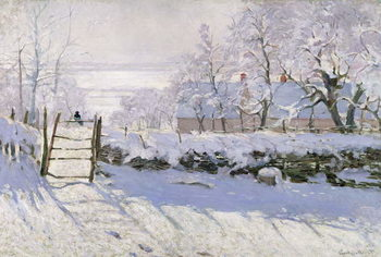 The Magpie, 1869 Canvas