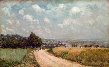 Obraz na plátne  Turning Road or, View of the Seine, 1875