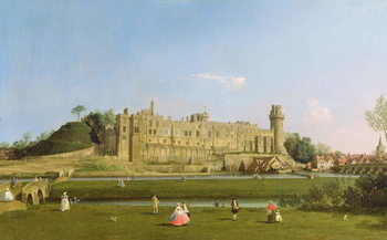 Obraz na plátne Warwick Castle, c.1748-49
