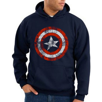 Hoodie  Captain America - Distressed Shield