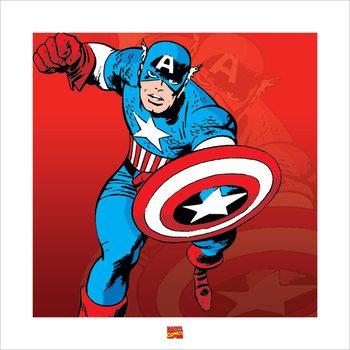 Captain America - Marvel Comics Festmény reprodukció