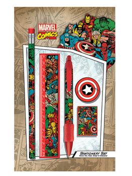 Marvel Retro - Collage stationery set Carnete și penare