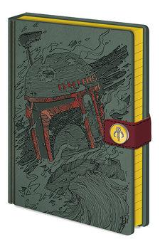 Carnețele Star Wars - Boba Fett Art