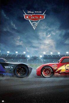 Poster encadré Cars 3 - Duel