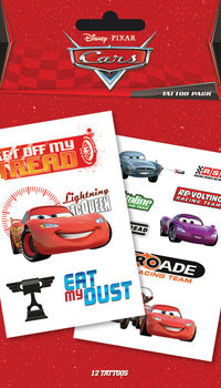 Tatuaje CARS - characters & sponsors