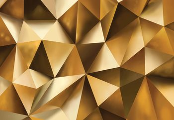 Carta da parati 3D Gold Polygon Texture