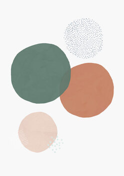 Carta da parati Abstract soft circles