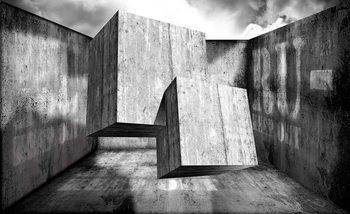 Carta da parati Astratto Moderno Cemento