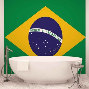 Carta da parati Bandiera Brasile