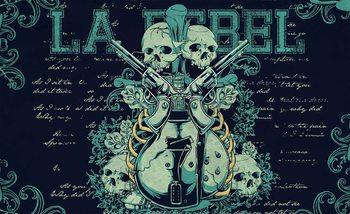 Carta da parati Chitarra Rock Pistole Teschio