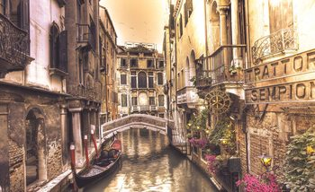 Carta da parati City Venice Canal Bridge Art