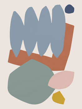 Carta da parati Collage Pastel II