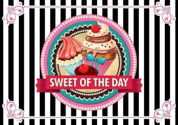 Carta da parati Cupcakes Rétro