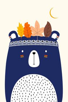 Carta da parati Cute Little Bear