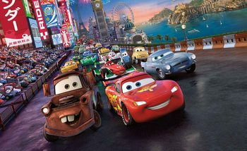 Carta da parati Disney Cars Lightning McQueen Mater