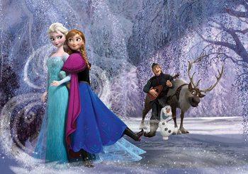 Carta da parati Disney Frozen Elsa Anna