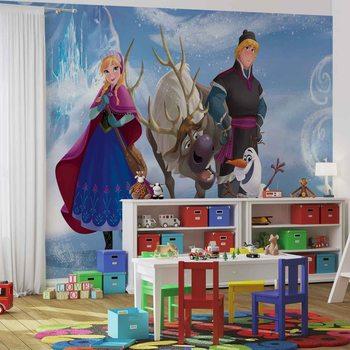 Carta da parati Disney Frozen - Il Regno di Ghiaccio