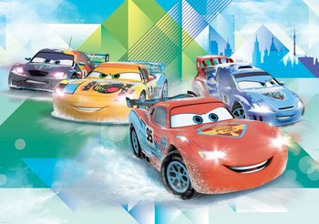 Carta da parati Disney Motori Ruggenti Saetta McQueen Camino