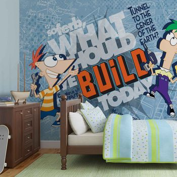 Carta da parati Disney Phineas Ferb