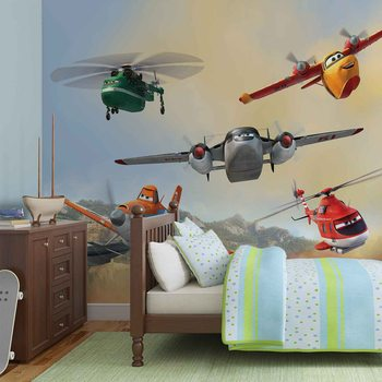 Carta da parati Disney Planes Dusty Blade Dipper Cabbie