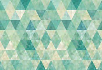 Carta da parati Green Modern Geometric Pattern