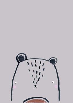 Carta da parati Inky line teddy bear
