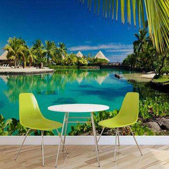 Carta da parati Isola Palme Mare Tropicale