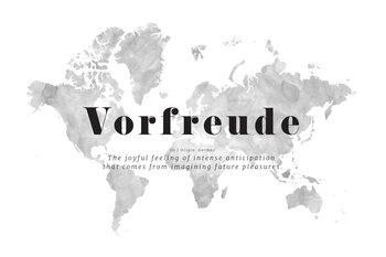 Carta da parati Joyful travel anticipation world map