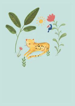 Carta da parati Jungle leopard