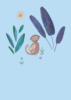 Carta da parati Jungle monkey