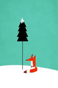 Carta da parati Little Mister Fox