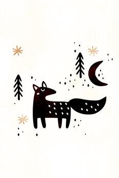 Carta da parati Little Winter Fox