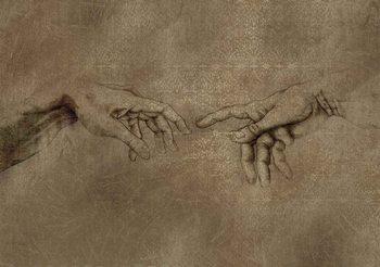 Carta da parati Michaelangelo Creazione di Adamo