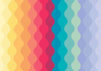 Carta da parati Modern Art Rainbow