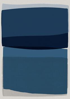 Carta da parati Modern Blue