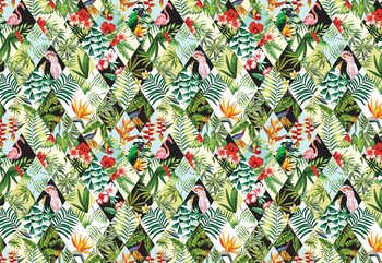 Carta da parati Modern Tropical Pattern