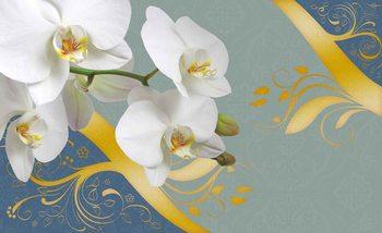 Carta da parati Motivo Astratto Fiori Orchidee