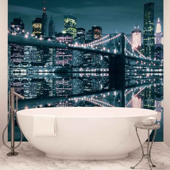 Carta da parati  New York City Skyline Ponte di Brooklyn