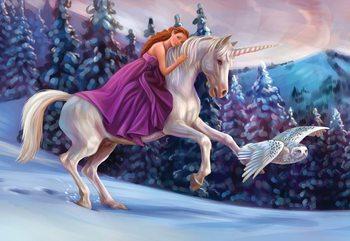 Carta da parati Princess Unicorn