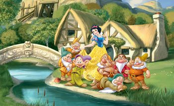 Carta da parati Principesse Disney Biancaneve