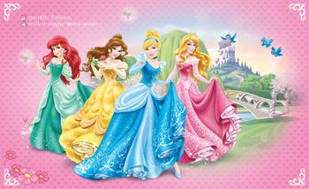 Carta da parati  Principesse Disney Cenerentola Belle