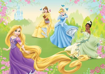 Carta da parati  Principesse Disney Raperonzolo Tiana Belle