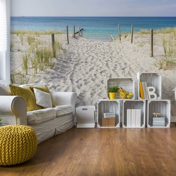 Carta da parati Sandy Beach Path To The Sea Coastal
